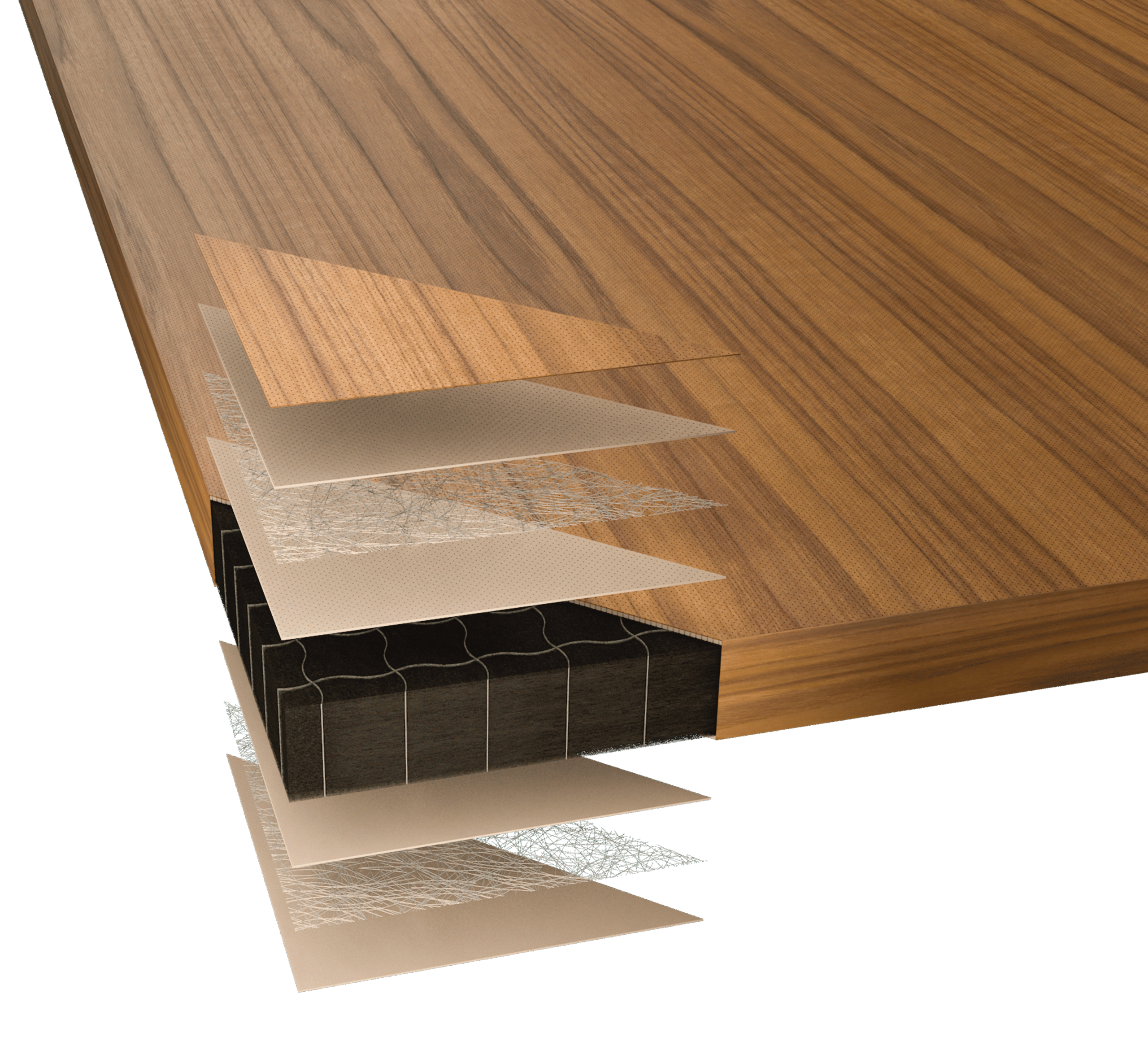 Alta Acoustic Ceiling Panels feature SoundPly's patented core for unrivaled performance.